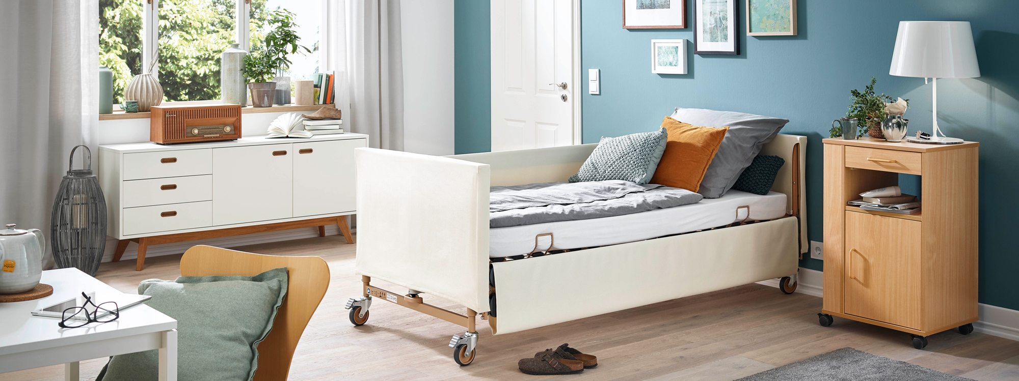 Softcovers in 7 attractive colours for the Dali care bed range