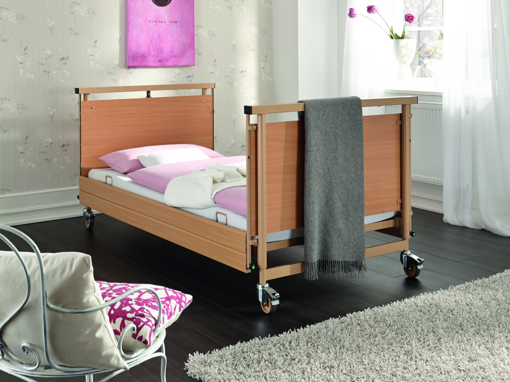 High safe working load of the Allura II heavy-duty bed