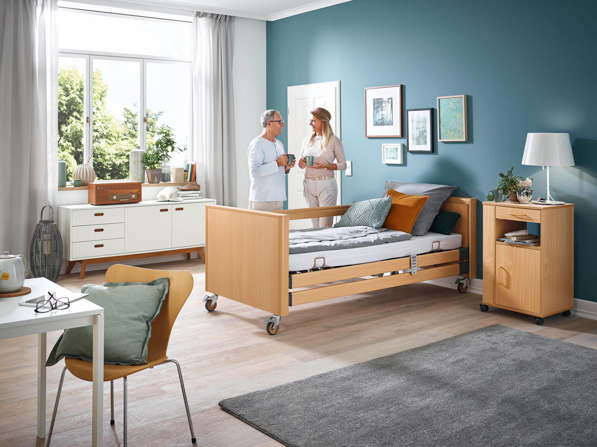 Optional wooden surrounds for the Dali care bed range