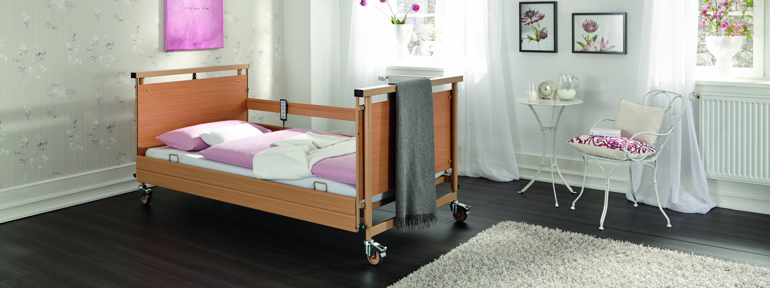 Fall prevention with the Allura II care bed