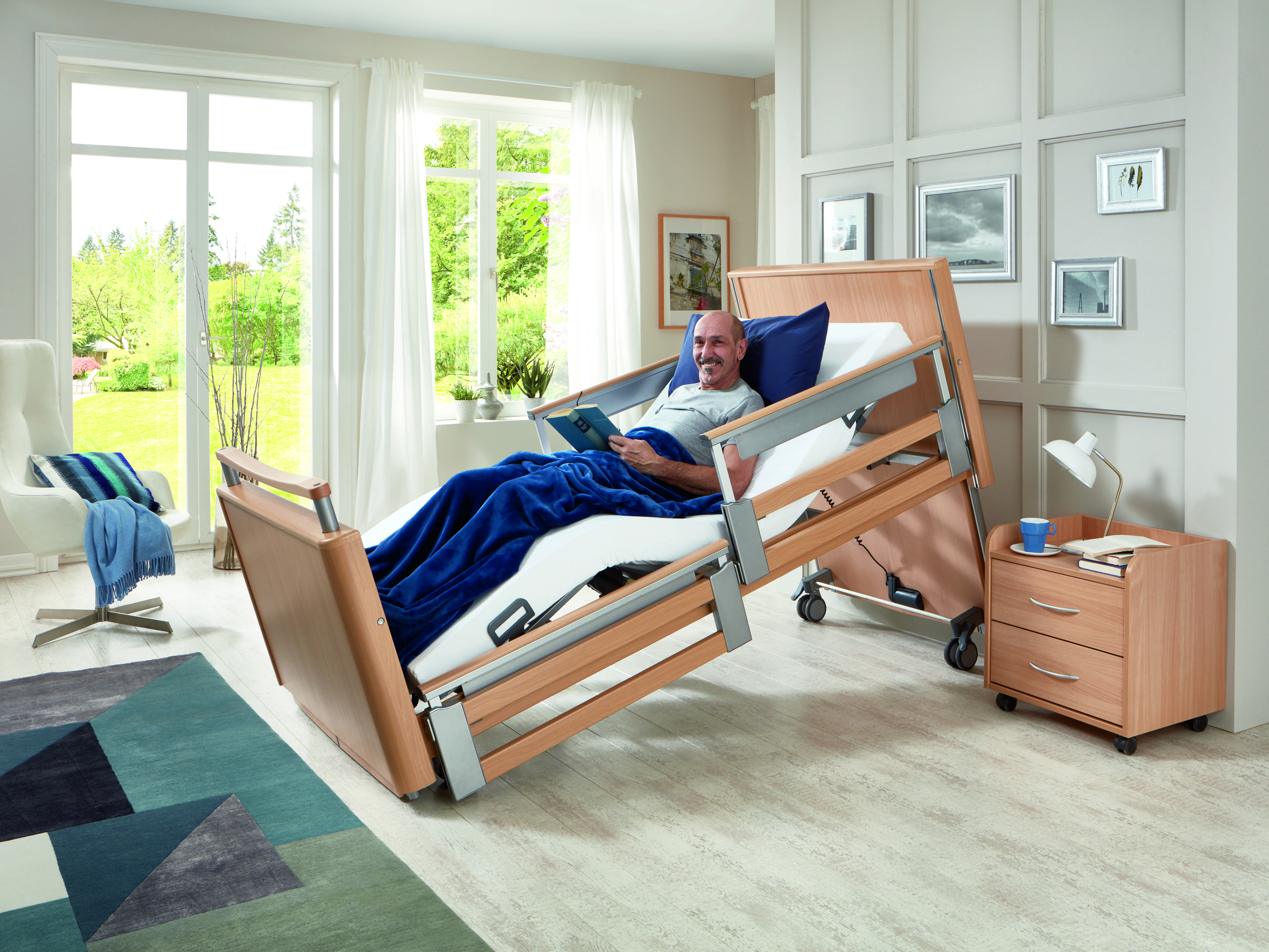 Sitting position of the Inovia care bed