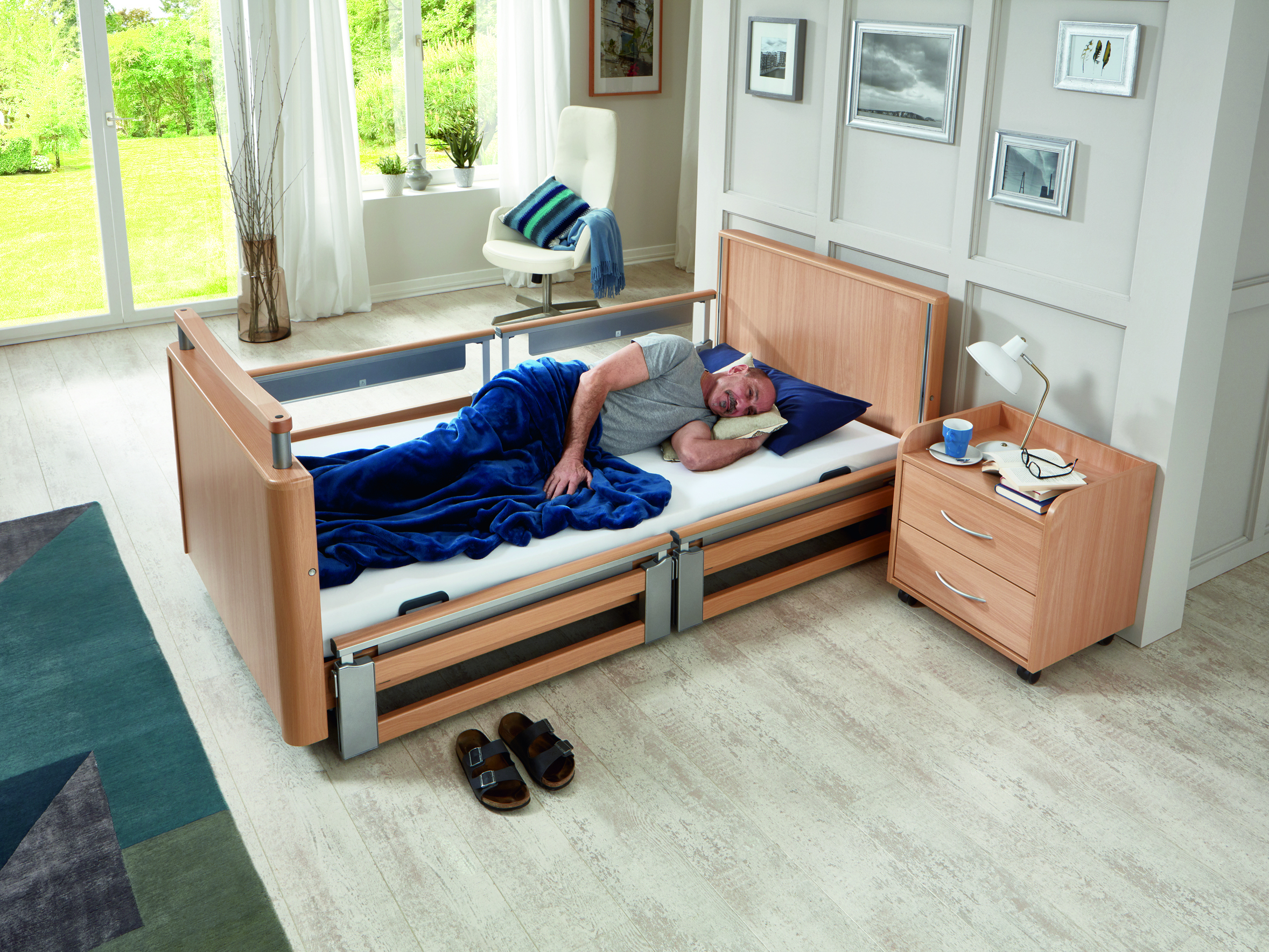 Fall prevention with the Inovia low-height bed